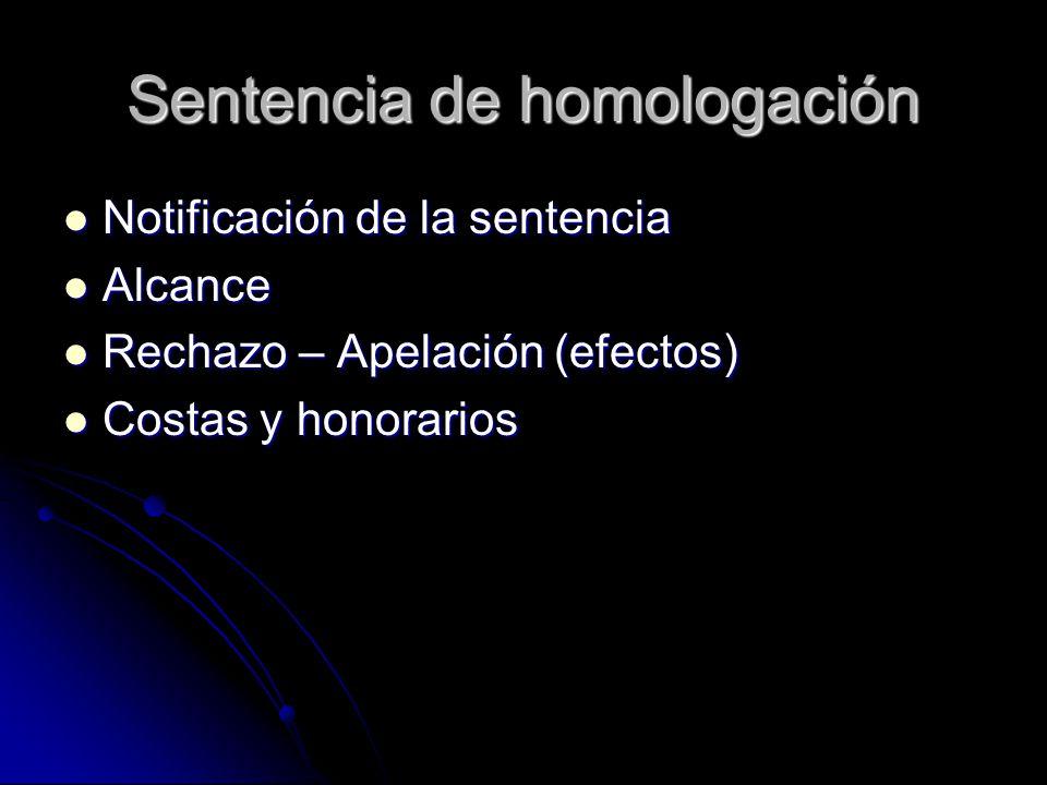 Sentencia de homologación