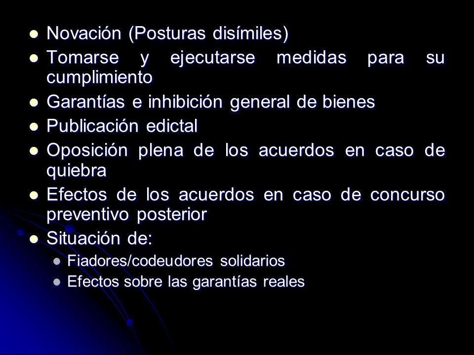Novación (Posturas disímiles)