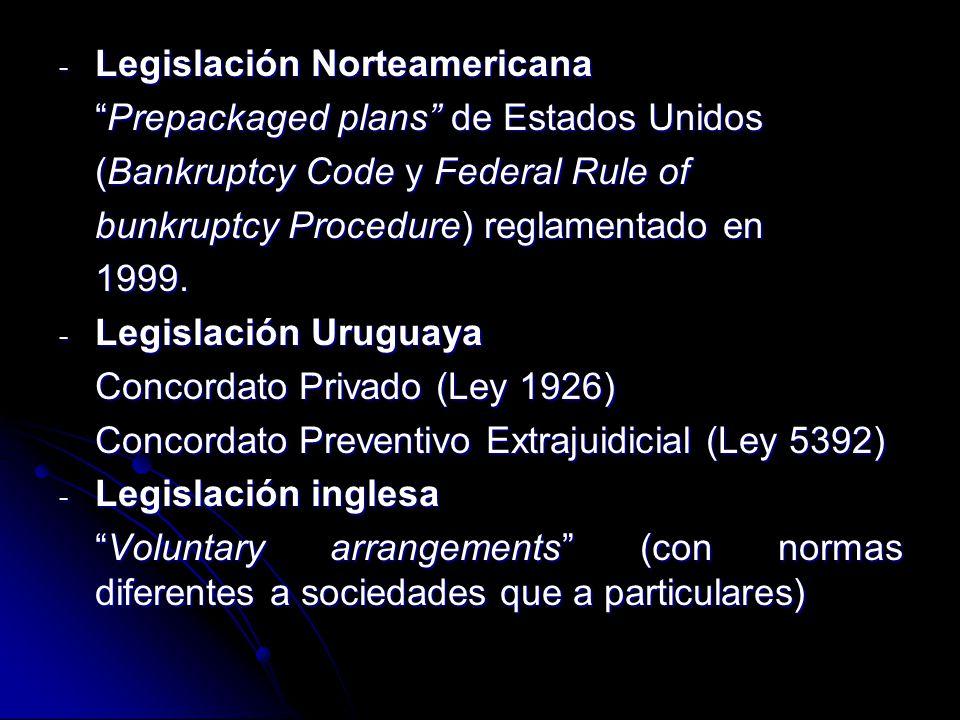 Legislación Norteamericana