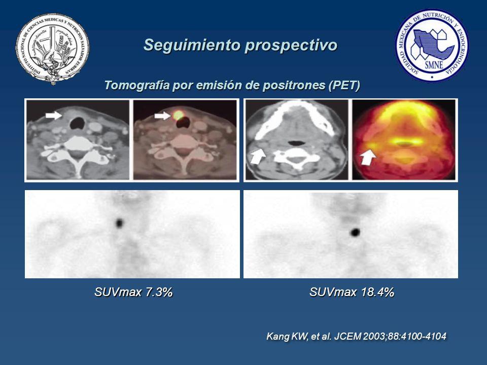 Seguimiento prospectivo Tomografía por emisión de positrones (PET)
