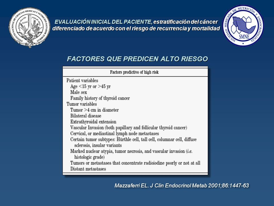 FACTORES QUE PREDICEN ALTO RIESGO