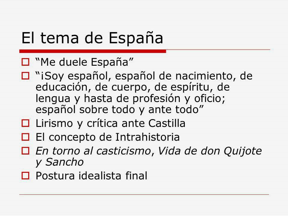 El tema de España Me duele España