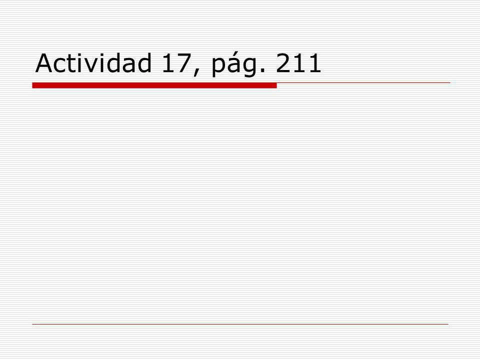 Actividad 17, pág. 211