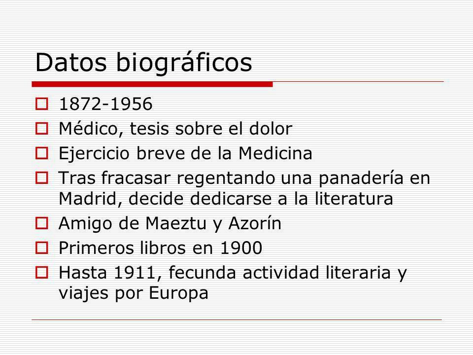 Datos biográficos 1872-1956 Médico, tesis sobre el dolor