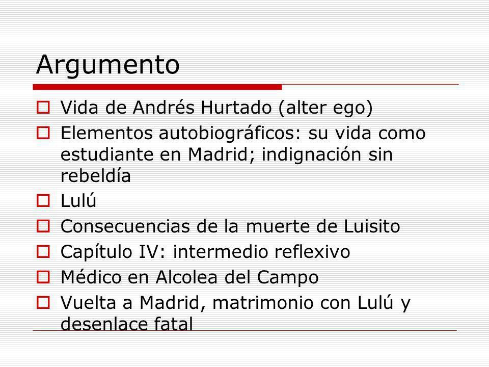 Argumento Vida de Andrés Hurtado (alter ego)