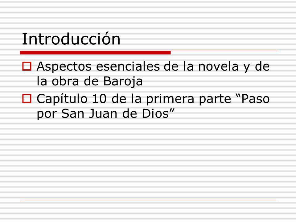 Introducción Aspectos esenciales de la novela y de la obra de Baroja