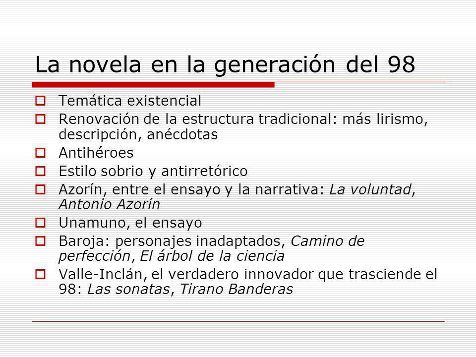 La novela en la generación del 98