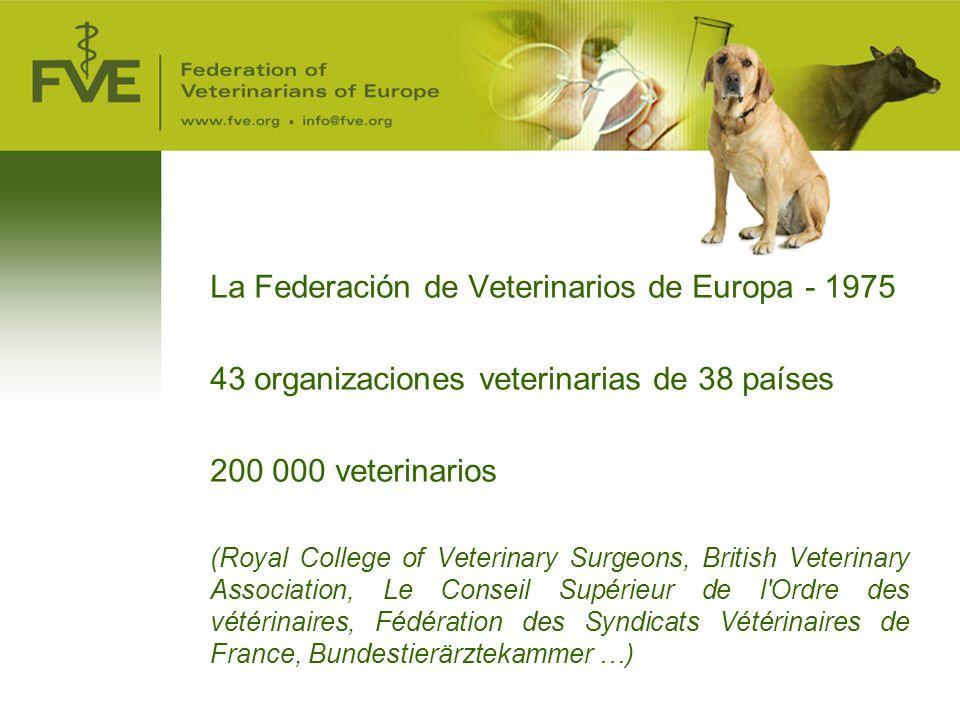 La Federación de Veterinarios de Europa - 1975
