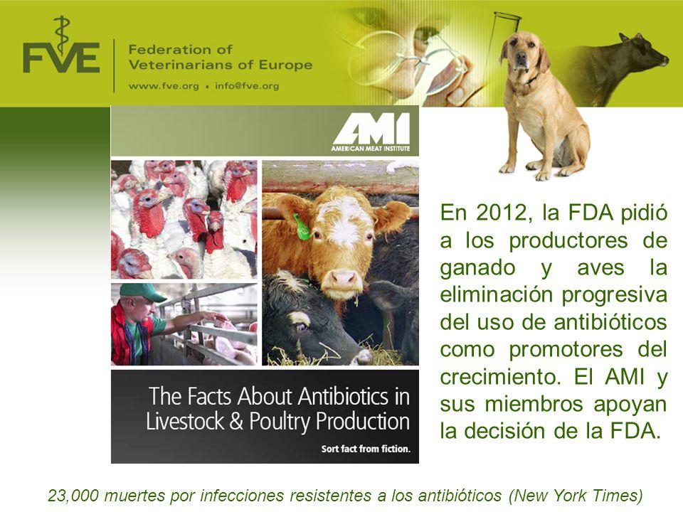 En 2012, la FDA pidió a los productores de ganado y aves la eliminación progresiva del uso de antibióticos como promotores del crecimiento. El AMI y sus miembros apoyan la decisión de la FDA.