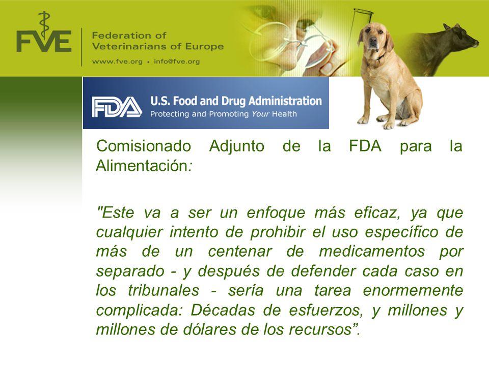 Comisionado Adjunto de la FDA para la Alimentación: