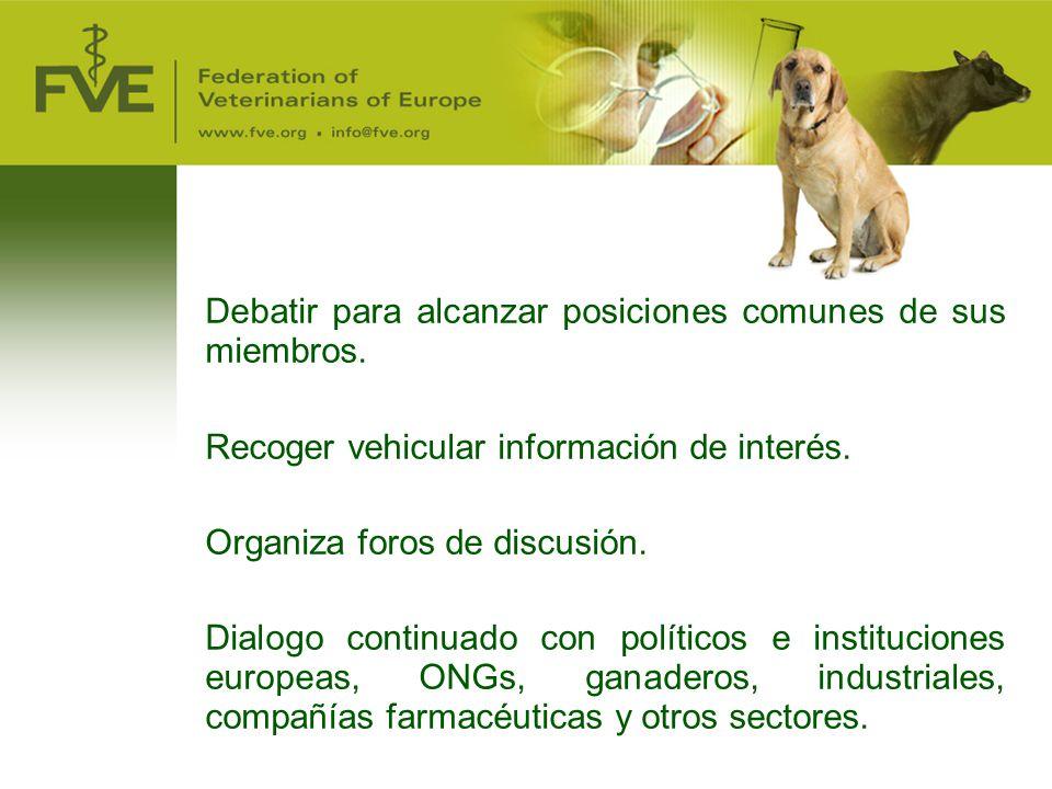Debatir para alcanzar posiciones comunes de sus miembros.