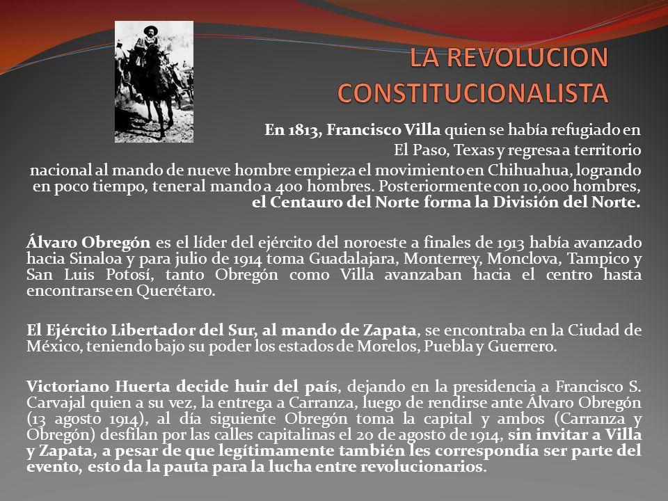 LA REVOLUCION CONSTITUCIONALISTA