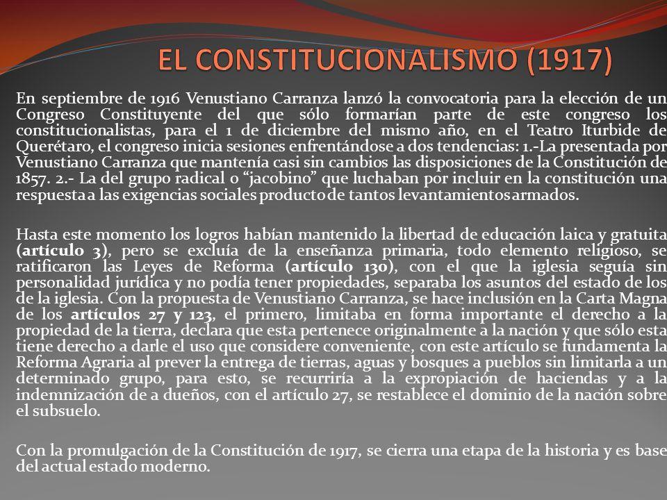 EL CONSTITUCIONALISMO (1917)