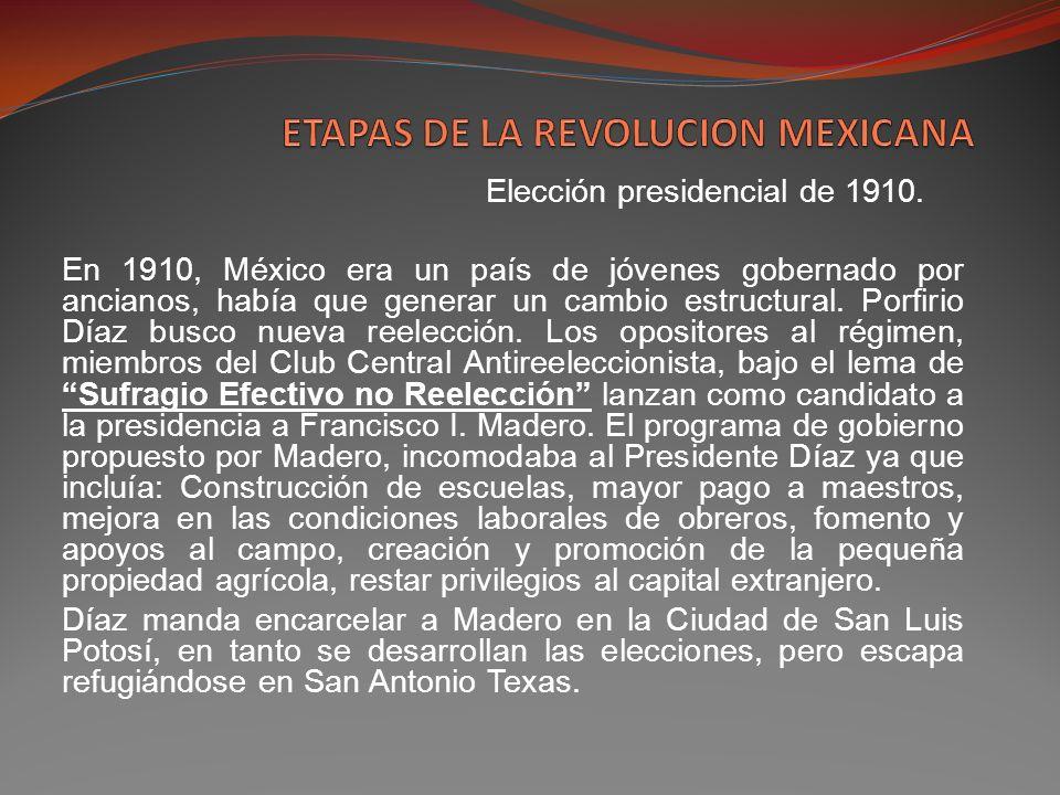 ETAPAS DE LA REVOLUCION MEXICANA