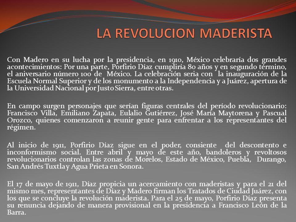 LA REVOLUCION MADERISTA