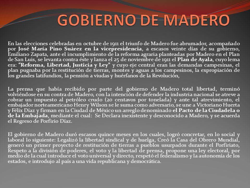 GOBIERNO DE MADERO