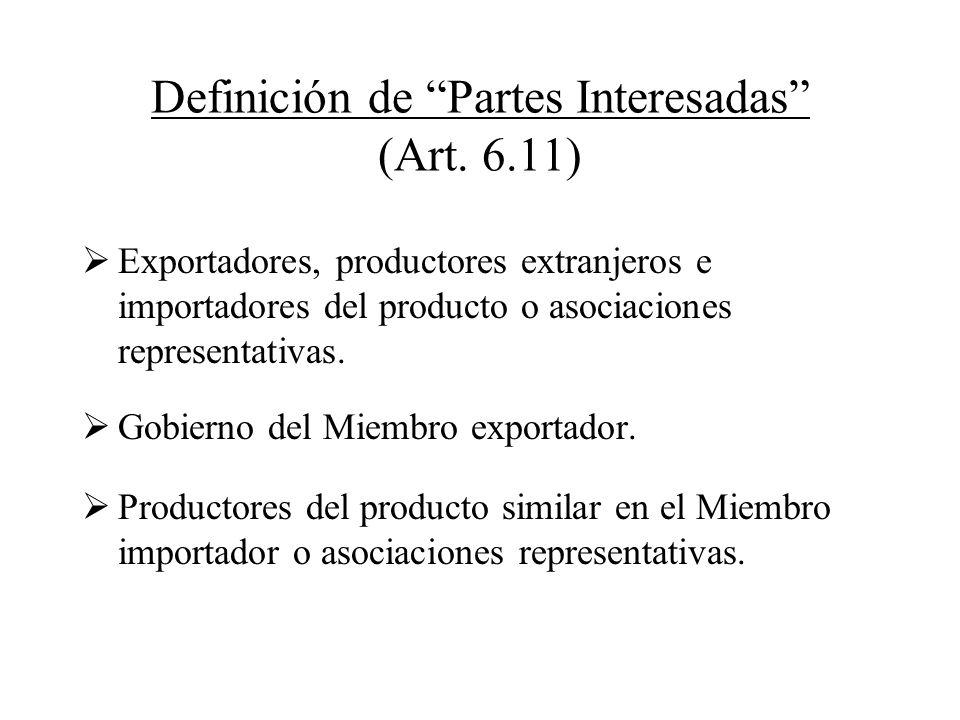 Definición de Partes Interesadas (Art. 6.11)