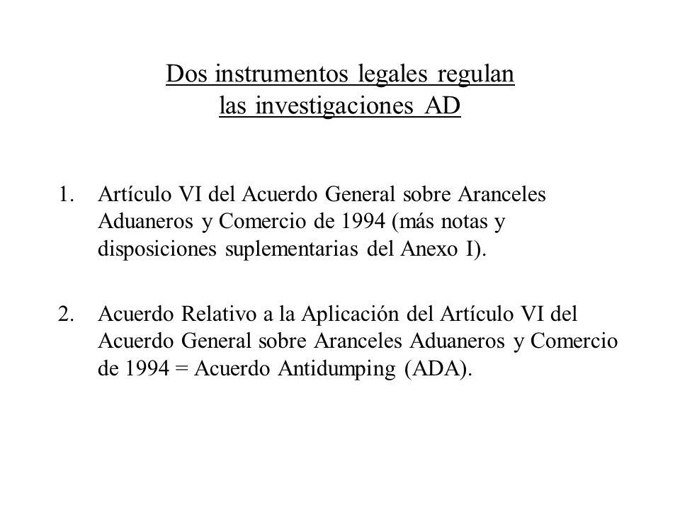 Dos instrumentos legales regulan las investigaciones AD