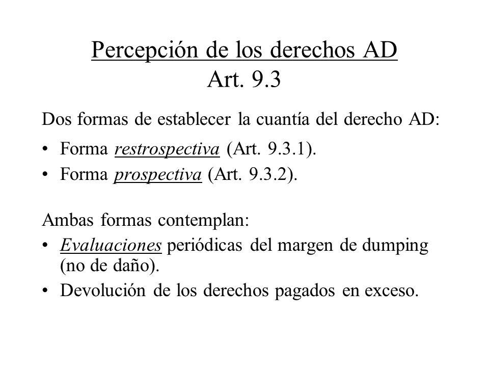 Percepción de los derechos AD Art. 9.3