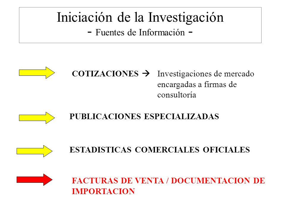 Iniciación de la Investigación - Fuentes de Información -