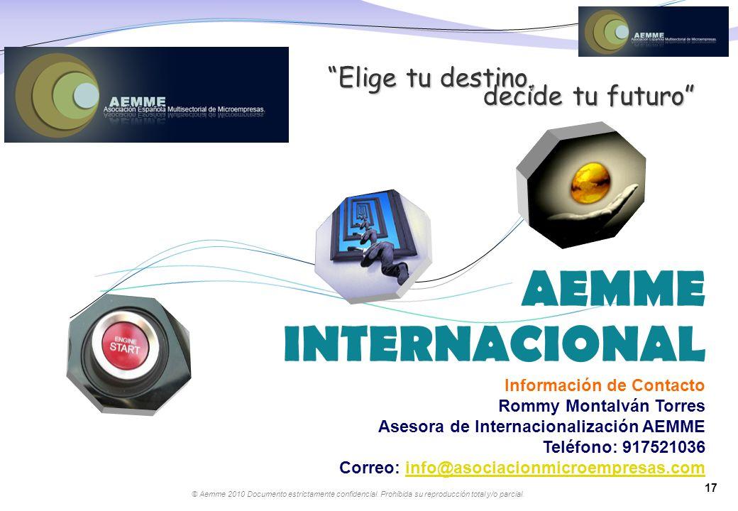 AEMME INTERNACIONAL Elige tu destino, decide tu futuro
