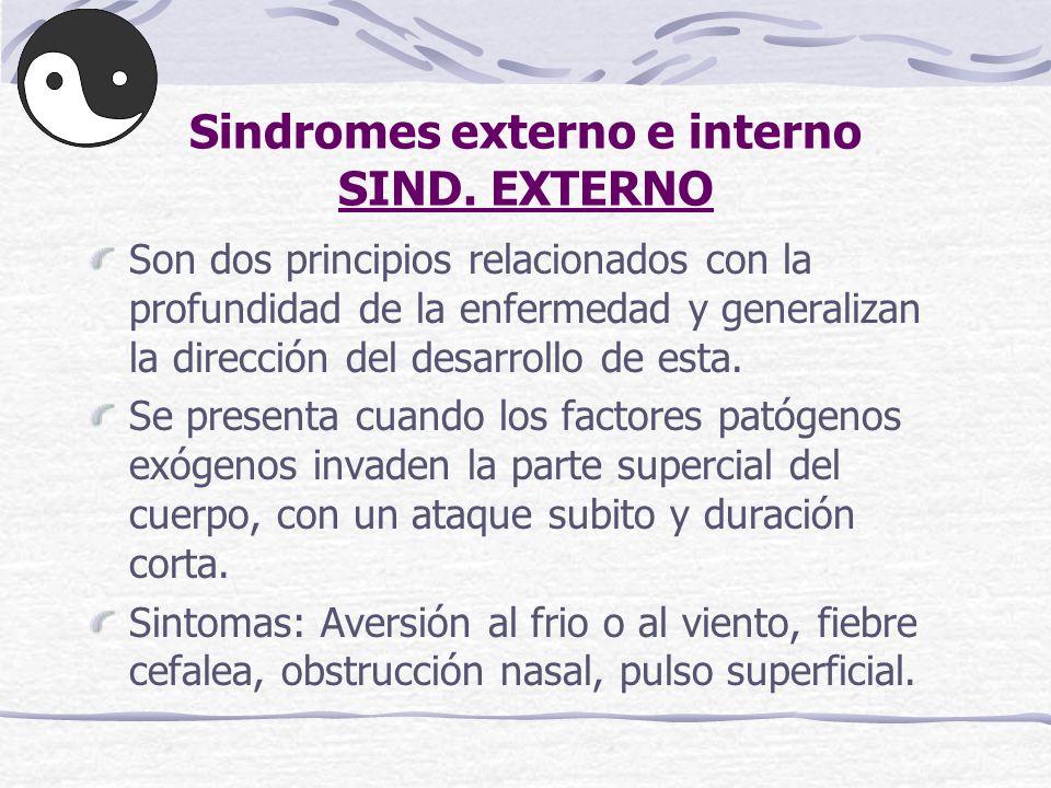 Sindromes externo e interno SIND. EXTERNO
