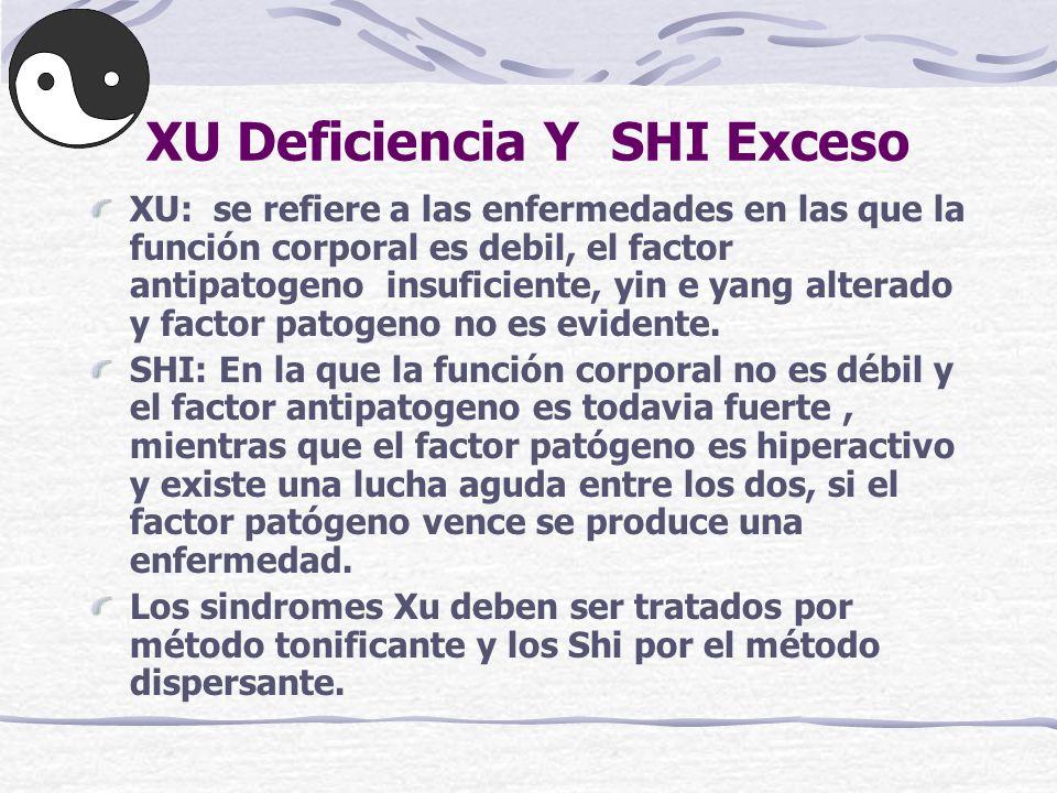 XU Deficiencia Y SHI Exceso
