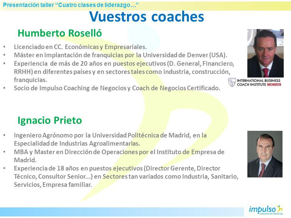 Vuestros coaches Humberto Roselló Ignacio Prieto