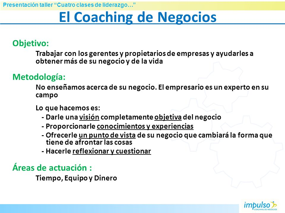 El Coaching de Negocios