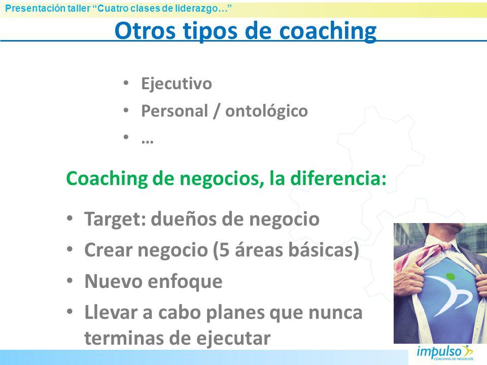 Otros tipos de coaching