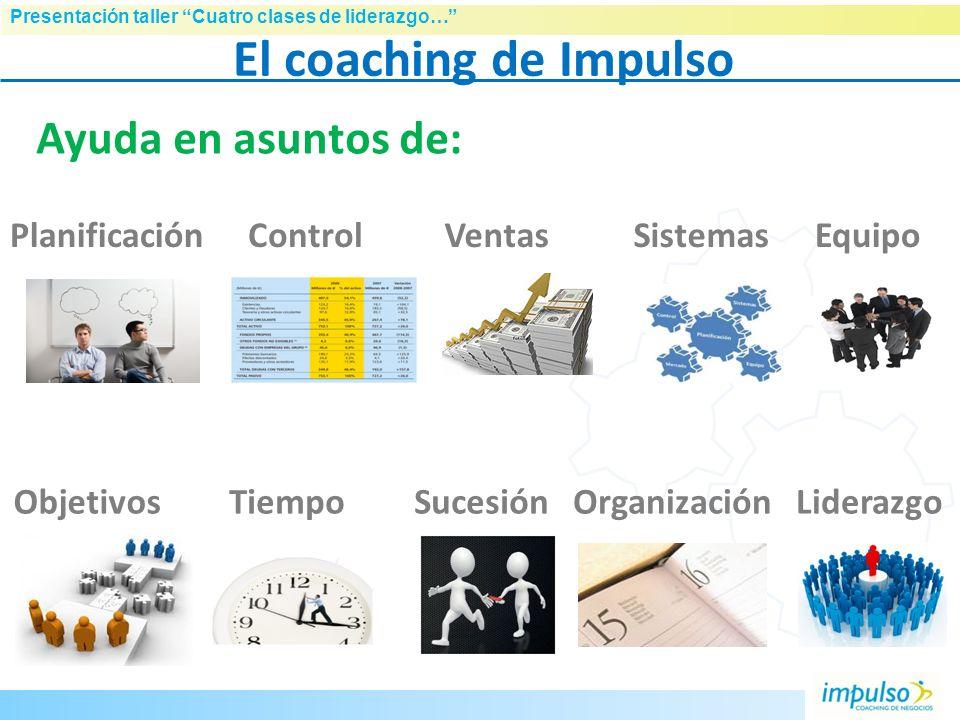 El coaching de Impulso Ayuda en asuntos de: Planificación Control