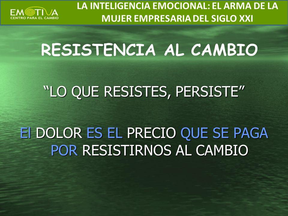 RESISTENCIA AL CAMBIO LO QUE RESISTES, PERSISTE