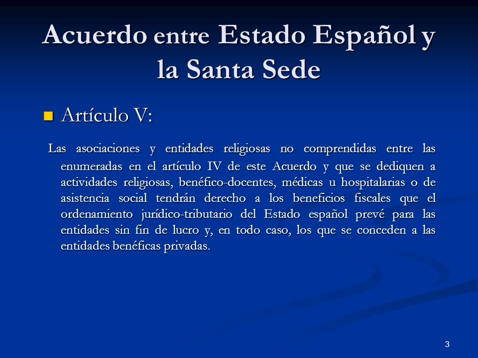Acuerdo entre Estado Español y la Santa Sede