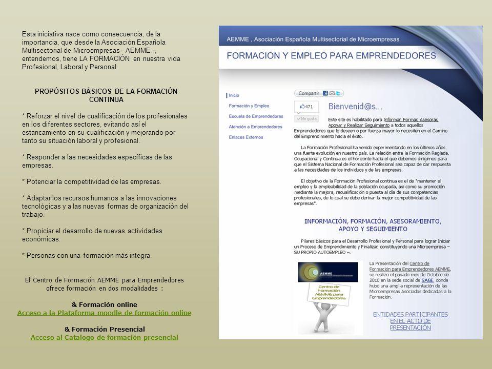 PROPÓSITOS BÁSICOS DE LA FORMACIÓN CONTINUA