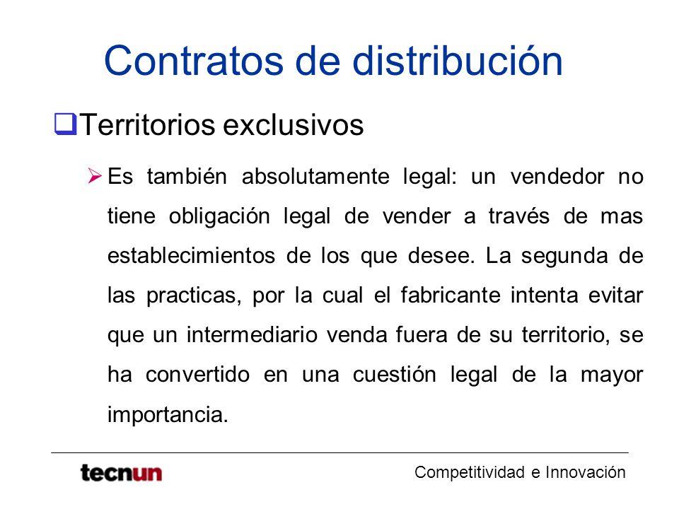 Contratos de distribución