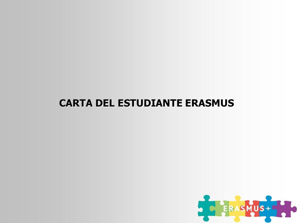 CARTA DEL ESTUDIANTE ERASMUS