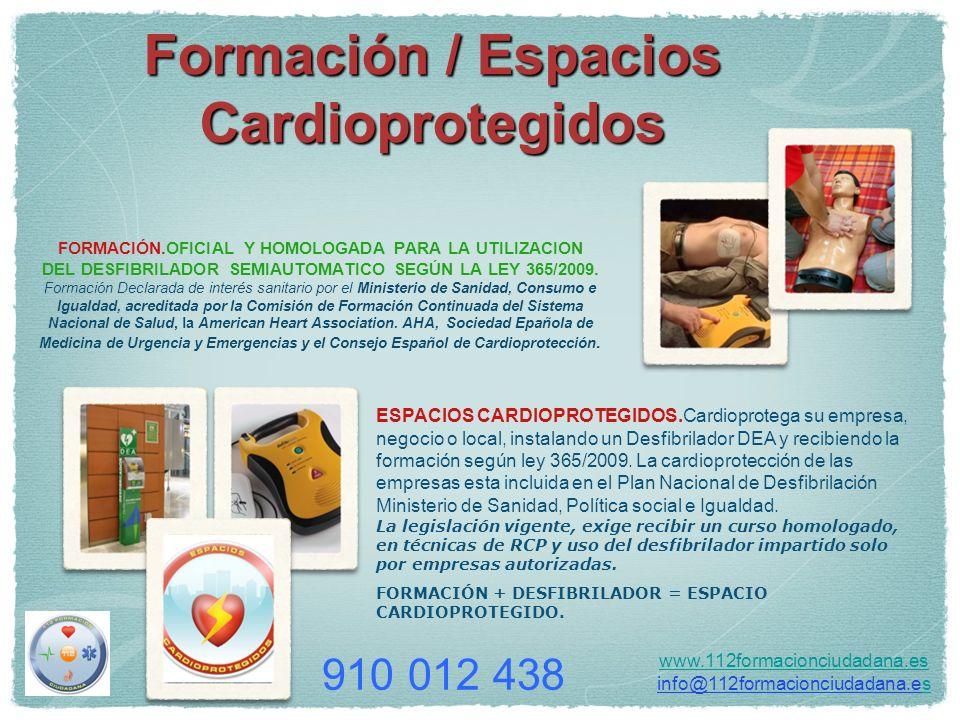 Formación / Espacios Cardioprotegidos