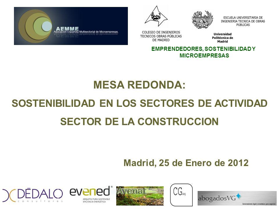 SOSTENIBILIDAD EN LOS SECTORES DE ACTIVIDAD SECTOR DE LA CONSTRUCCION