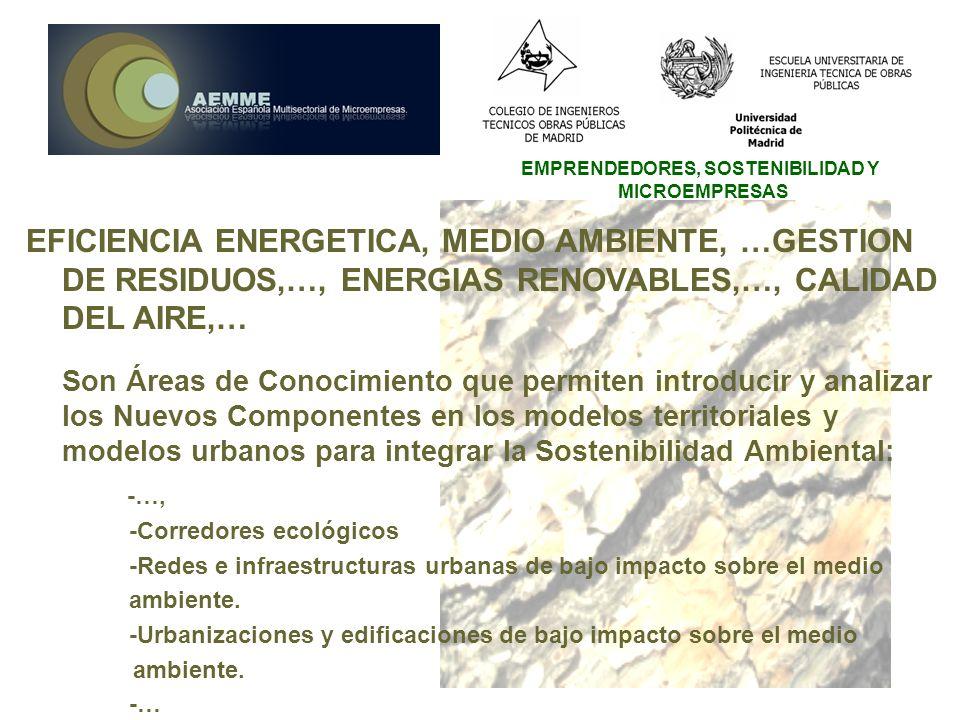 EFICIENCIA ENERGETICA, MEDIO AMBIENTE, …GESTION DE RESIDUOS,…, ENERGIAS RENOVABLES,…, CALIDAD DEL AIRE,…