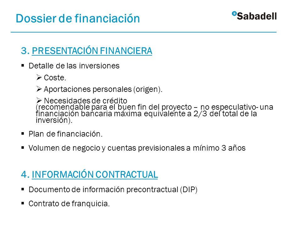 Dossier de financiación