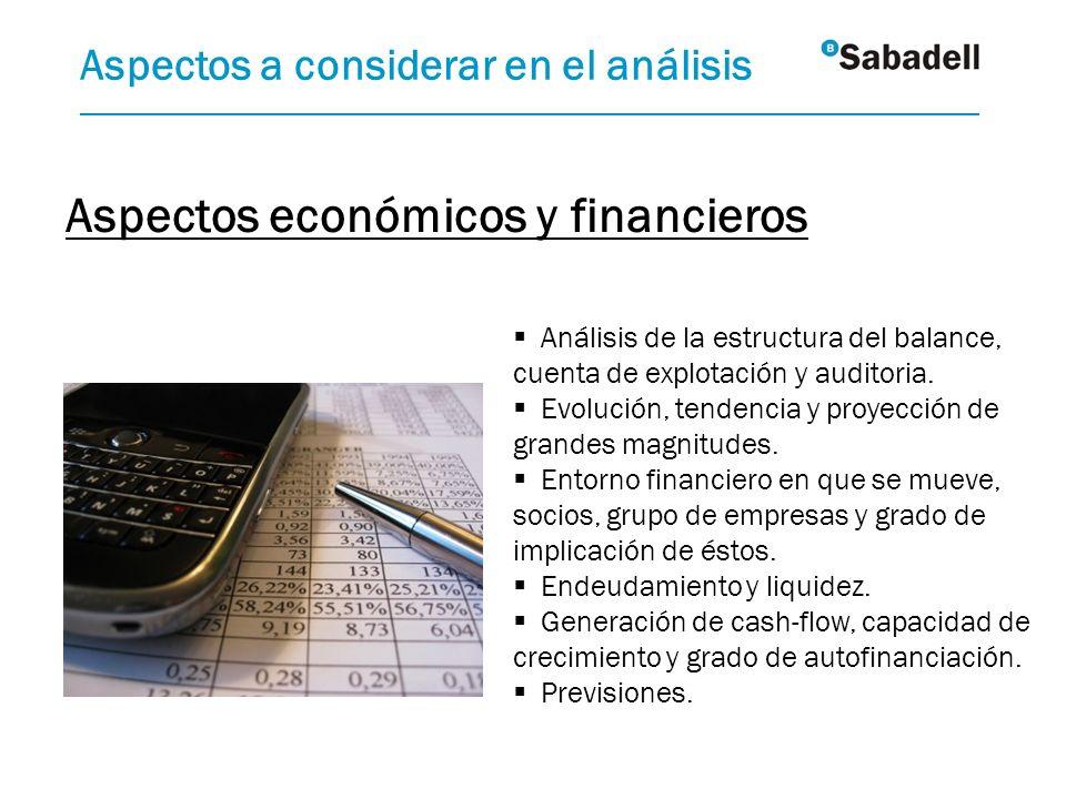 Aspectos económicos y financieros
