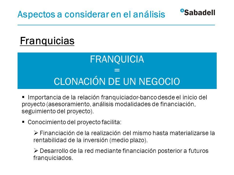 FRANQUICIA = CLONACIÓN DE UN NEGOCIO