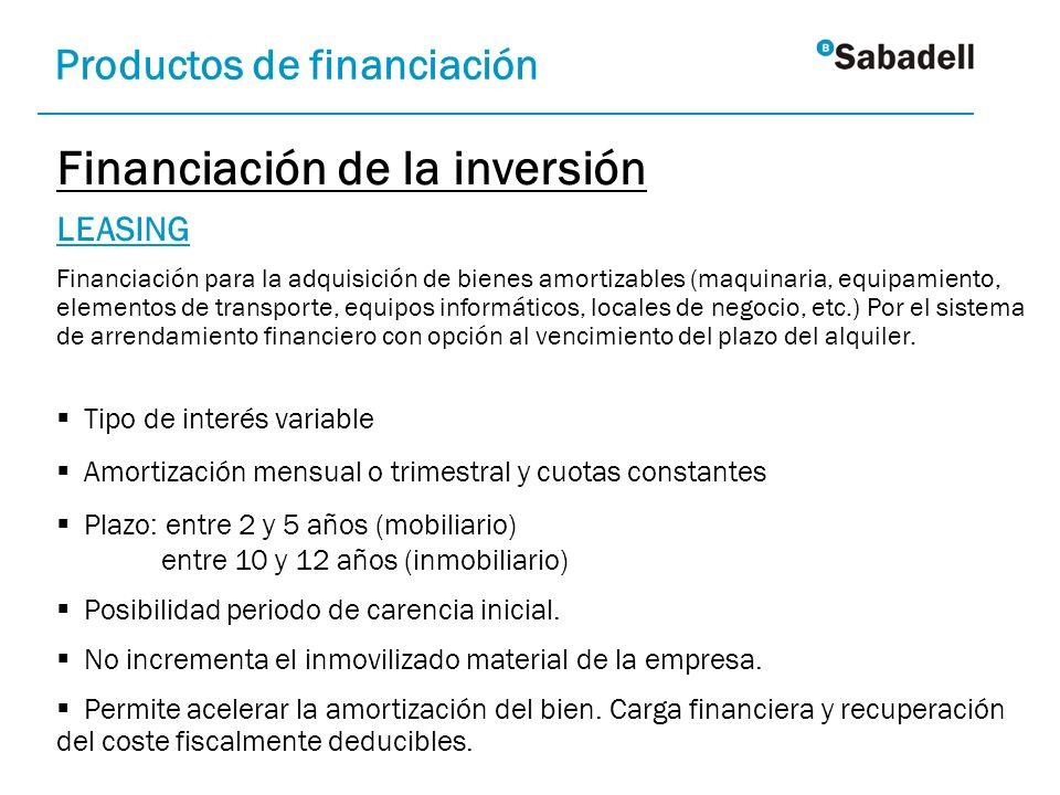 Financiación de la inversión