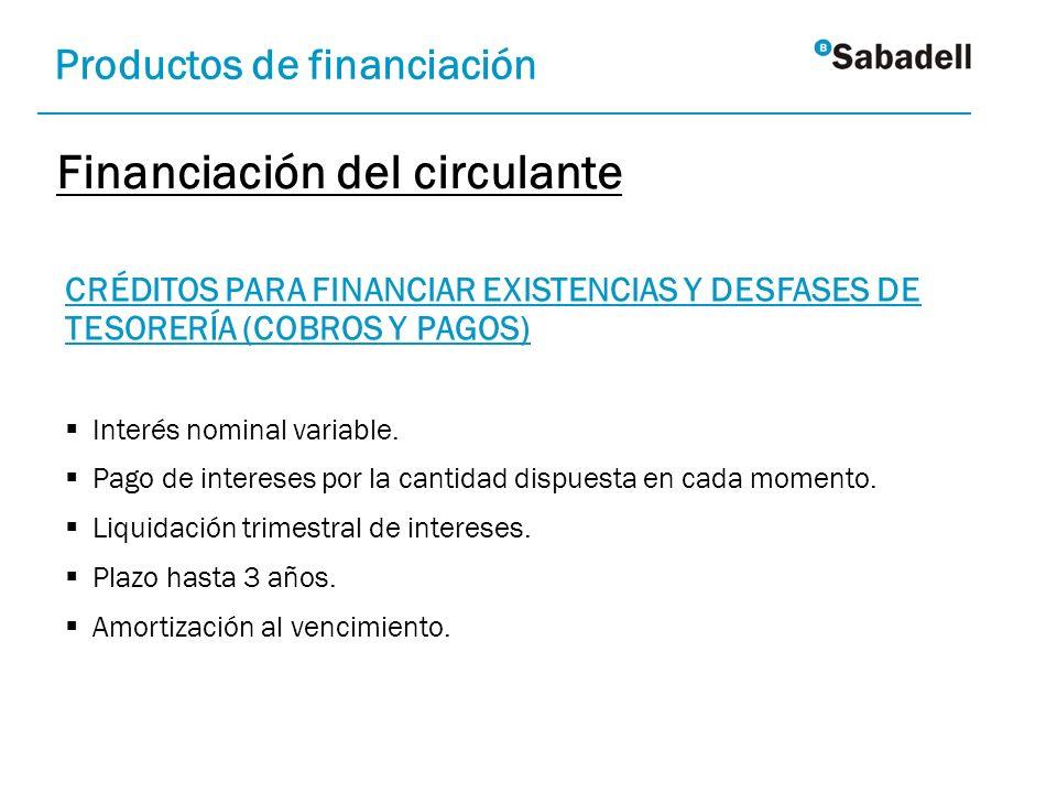 Financiación del circulante