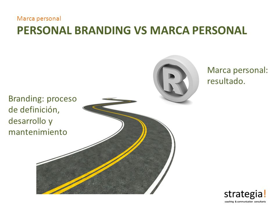 Marca personal PERSONAL BRANDING VS MARCA PERSONAL