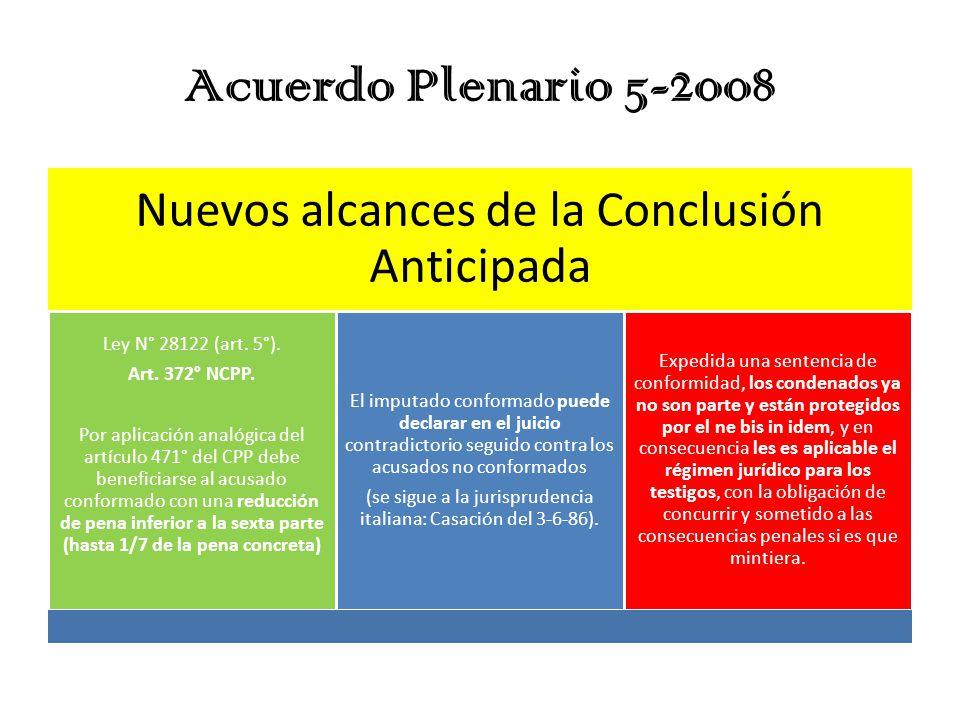 Acuerdo Plenario 5-2008 Nuevos alcances de la Conclusión Anticipada