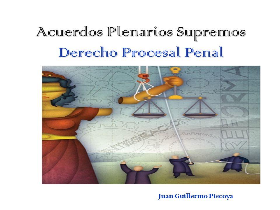 Acuerdos Plenarios Supremos Derecho Procesal Penal