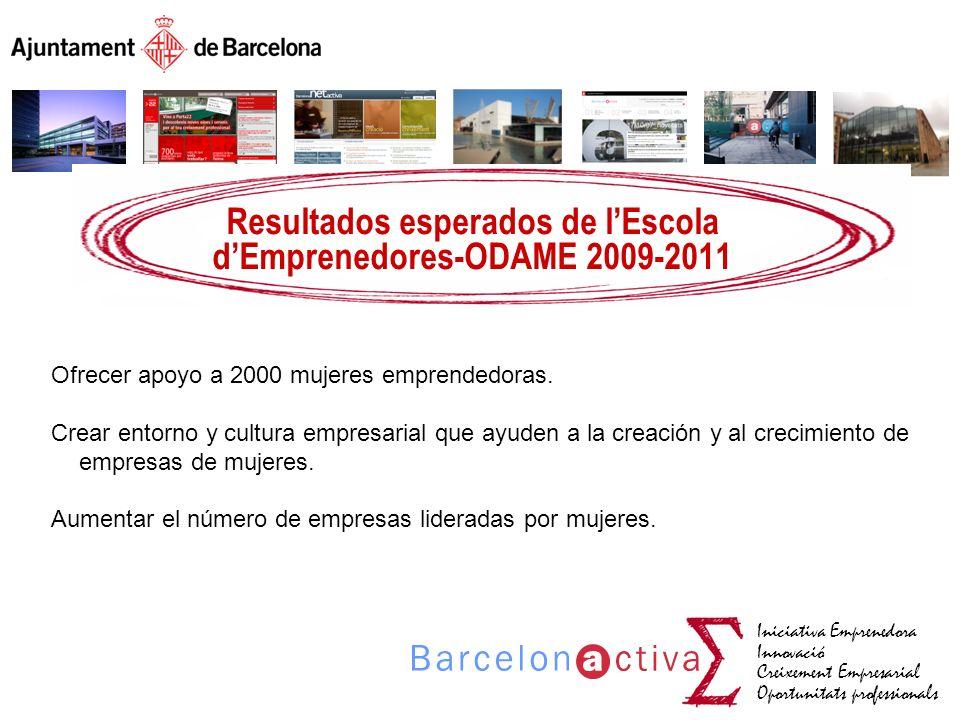 Resultados esperados de l'Escola d'Emprenedores-ODAME 2009-2011