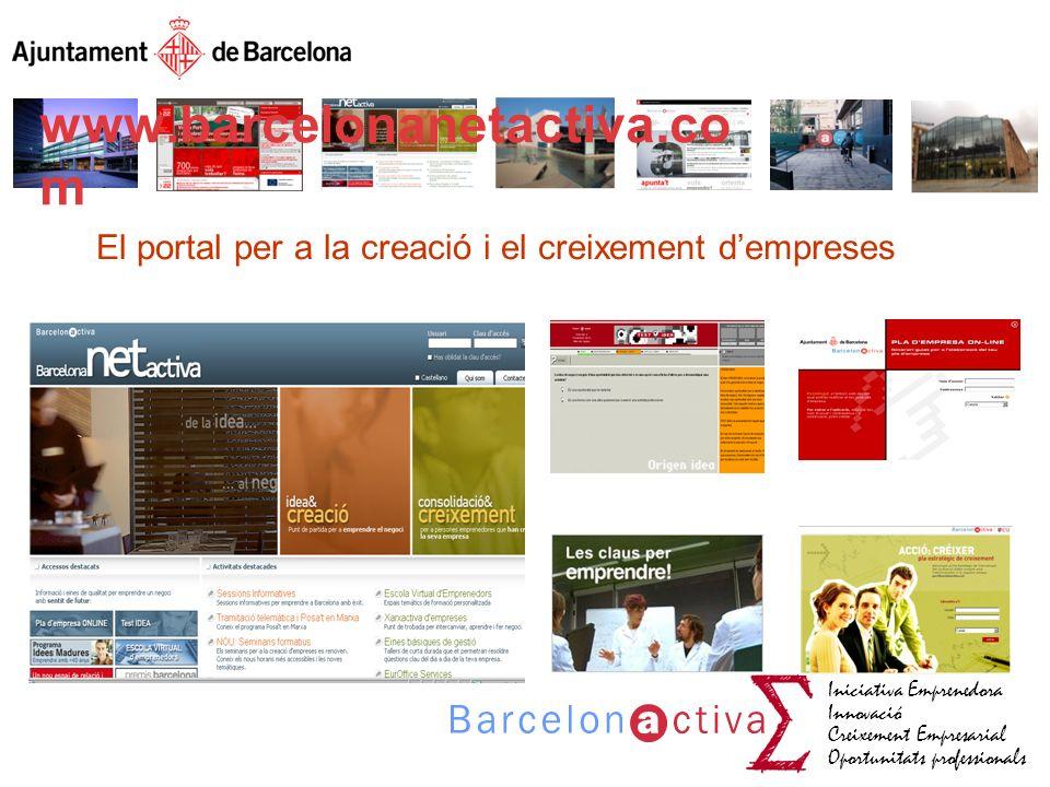 El portal per a la creació i el creixement d'empreses