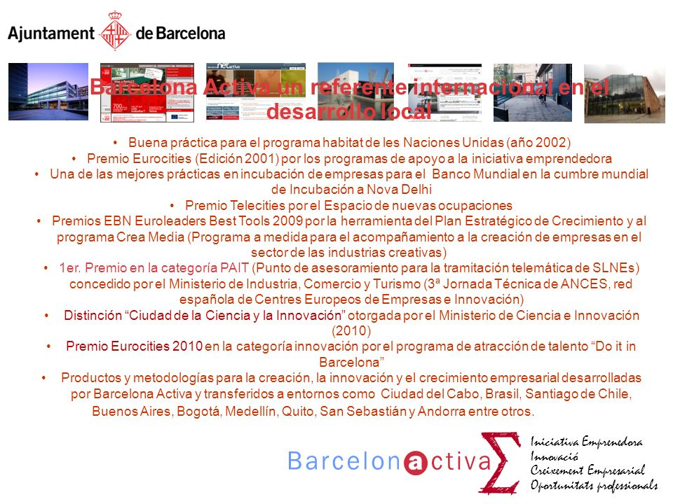 Barcelona Activa un referente internacional en el desarrollo local